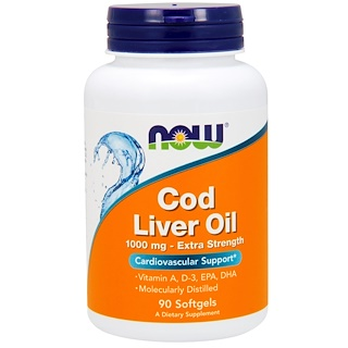 Now Foods, Cod Liver Oil, 1,000 mg, 90 Softgels