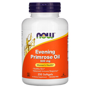 Now Foods, Evening Primrose Oil, 500 mg, 250 Softgels отзывы покупателей