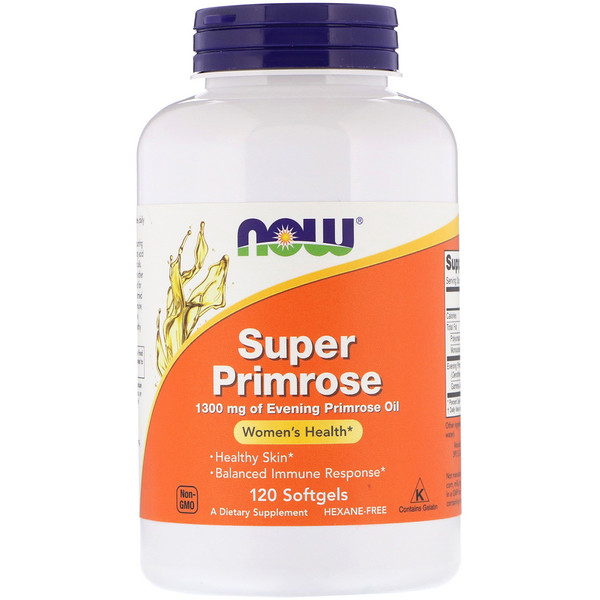 Now Foods, Super Primrose, Evening Primrose Oil, 120 cápsulas gelatinosas