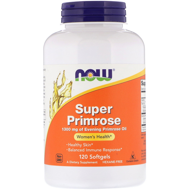Super Primrose, Evening Primrose Oil, 1300 mg, 120 Softgels