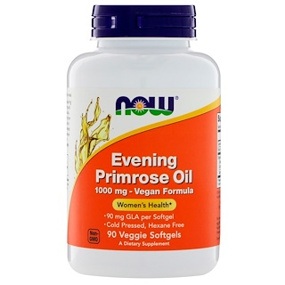 Now Foods, Evening Primrose Oil, 1000 mg, 90 Veggie Softgels