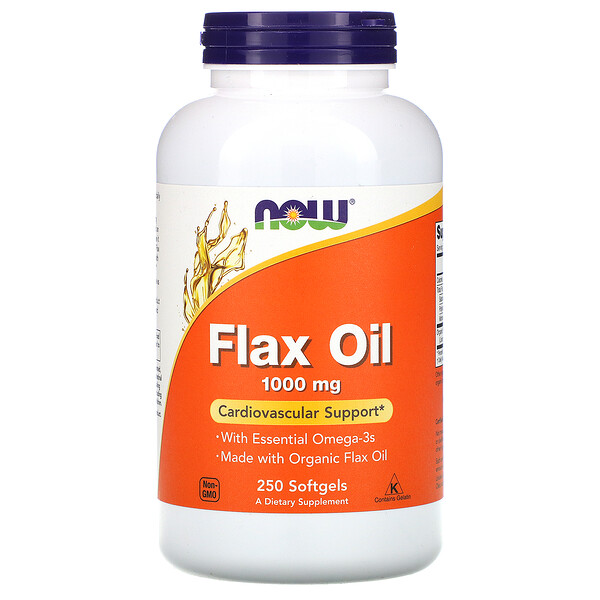 Flax Oil with Essential Omega-3's, 1,000 mg, 250 Softgels