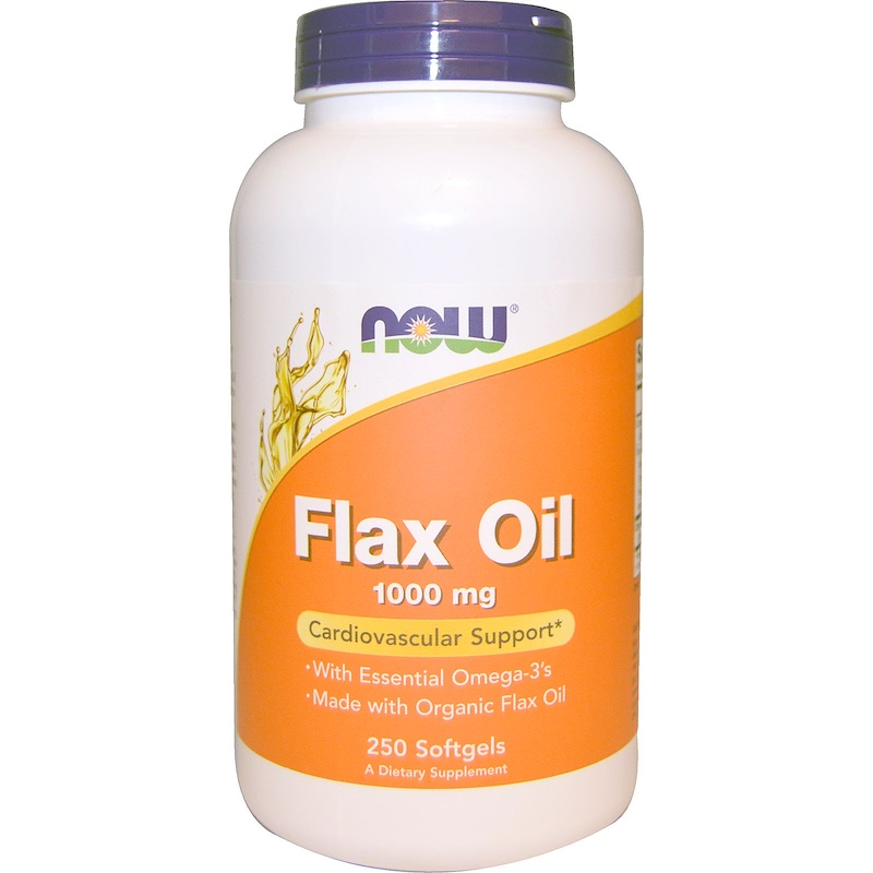 Flax Oil, Essential Omega-3's, 1000 mg, 250 Softgels