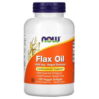 Now Foods, Flax Oil, 1,000 mg, 120 Veggie Softgels
