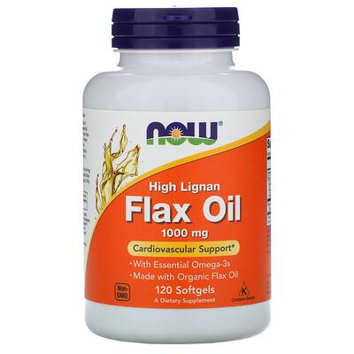 Купить High Lignan Flax Oil, 1000 мг, 120 мягких желатиновых капсул