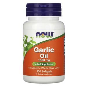 Now Foods, Garlic Oil, 1,500 mg, 100 Softgels отзывы покупателей