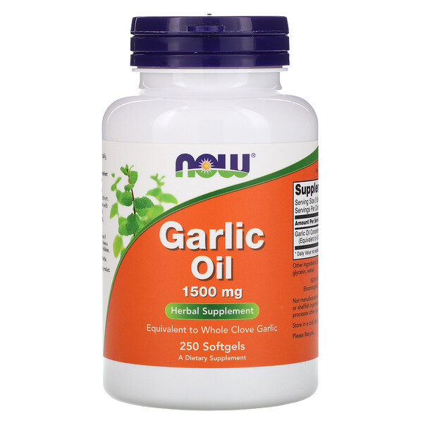 Now Foods, Garlic Oil, 1,500 mg, 250 Softgels