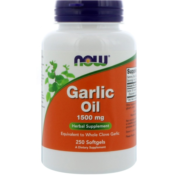 Garlic Oil, 1,500 mg, 250 Softgels