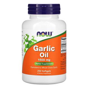 Now Foods, Garlic Oil, 1,500 mg, 250 Softgels отзывы покупателей