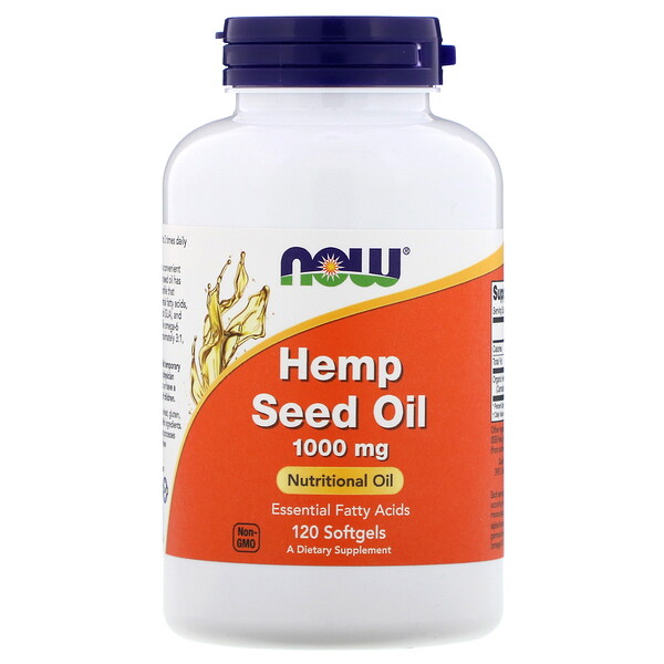 Now Foods, Hemp Seed Oil, 1,000 mg, 120 Softgels