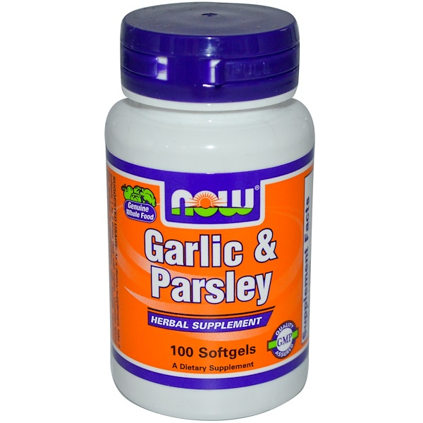Now Foods, Garlic & Parsley, 100 Softgels (Discontinued Item)