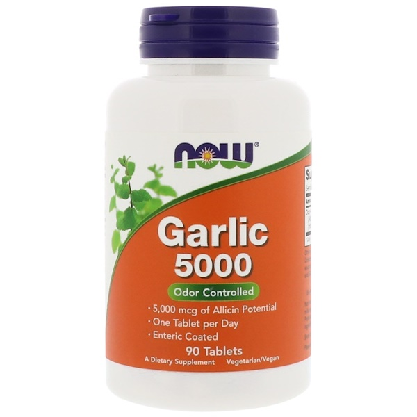 Now Foods, Garlic 5000, 90 comprimidos