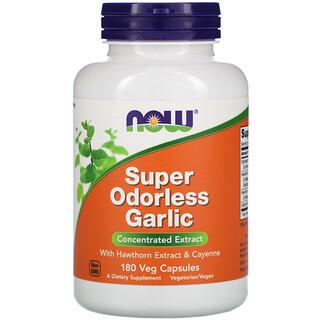 Now Foods, Super Odorless Garlic, 180 Veg Capsules