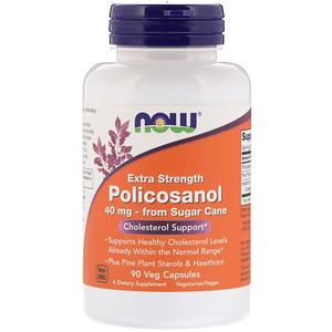 Now Foods, Extra Strength Policosanol, 40 mg, 90 Veg Capsules отзывы