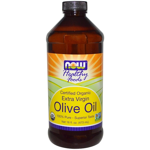 Now Foods, Certified Organic, Extra Virgin, Olive Oil, 16 fl oz (473 ml) (Discontinued Item)