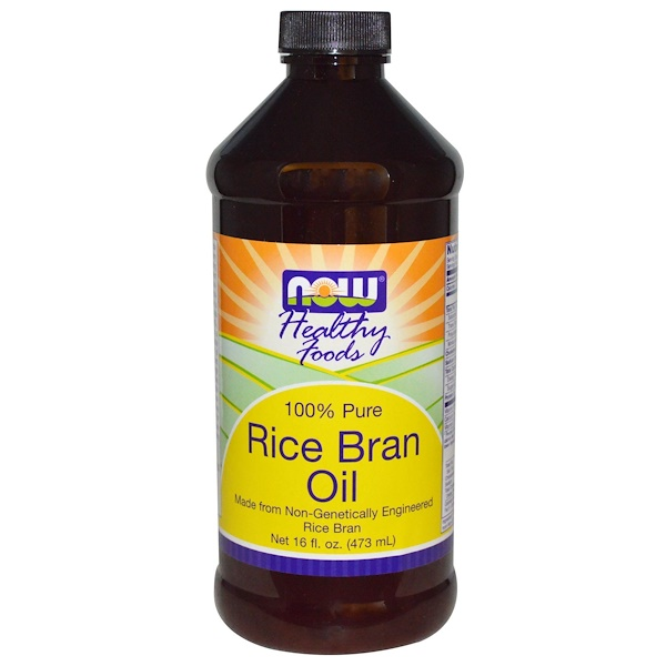 Now Foods, Healthy Foods, Rice Bran Oil, 16 fl oz (473 ml) (Discontinued Item)