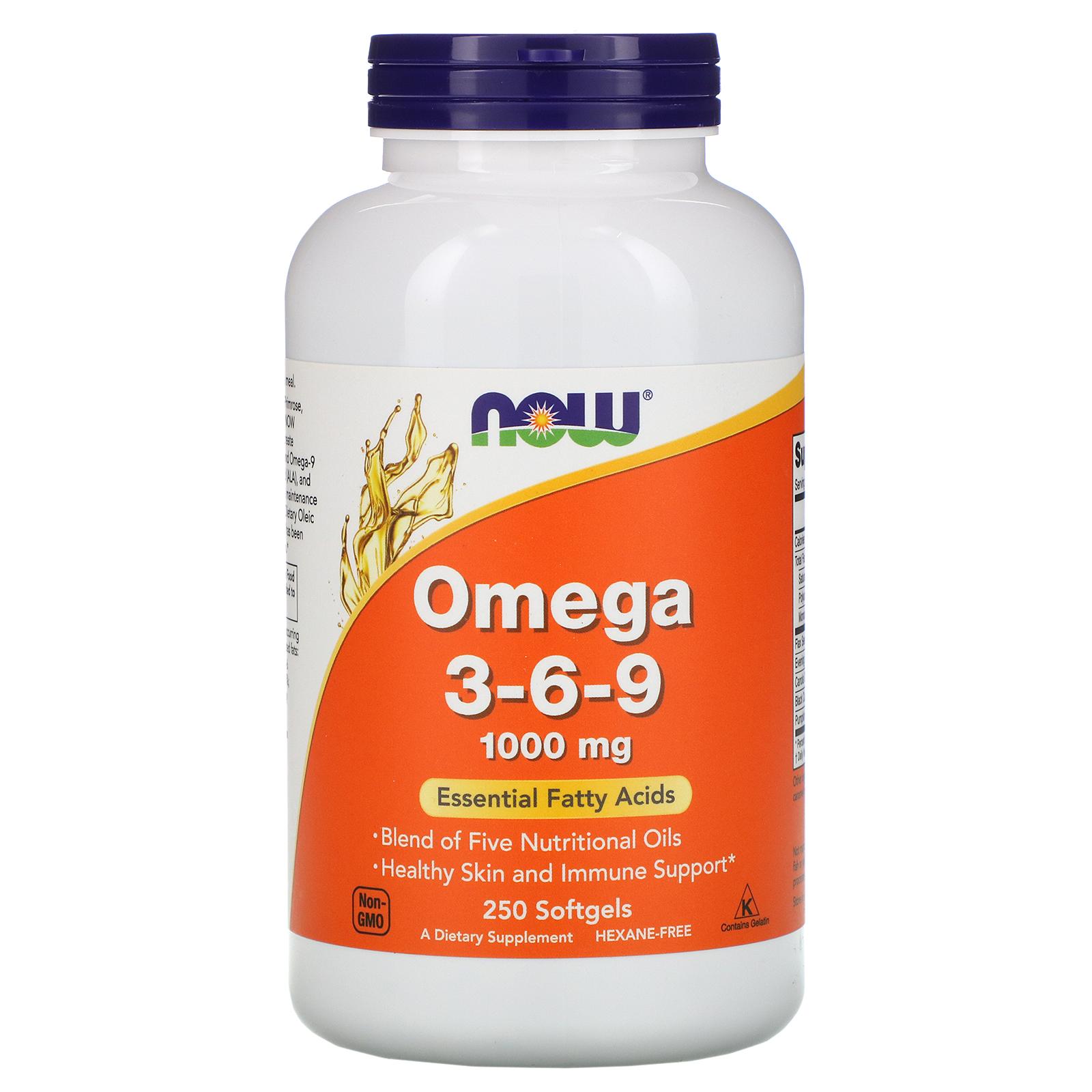 Now Foods Omega 3 6 9 1 000 Mg 250 Softgels Iherb