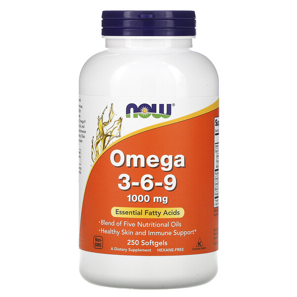 Omega 3-6-9, 1,000 mg, 250 Softgels