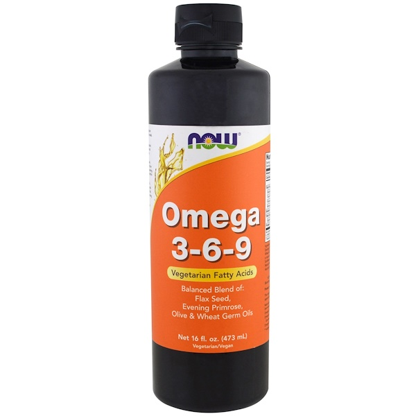 Now Foods, أوميجا 3-6-9، 16 أونصة (473 مل) (Discontinued Item)