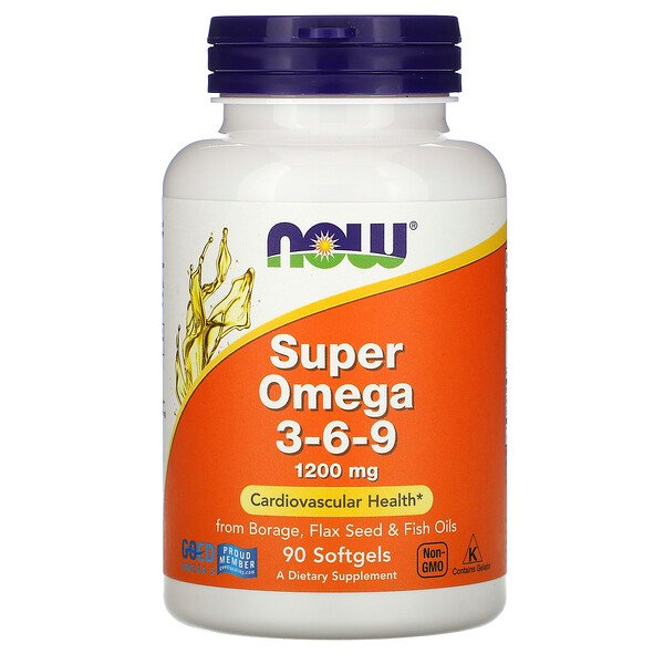Super Omega 3-6-9, 1,200 mg, 90 Softgels