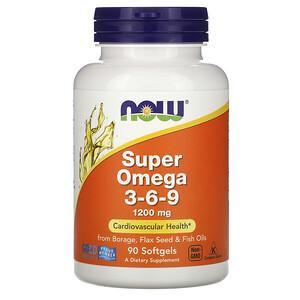 Now Foods, Super Omega 3-6-9, 1,200 mg, 90 Softgels отзывы