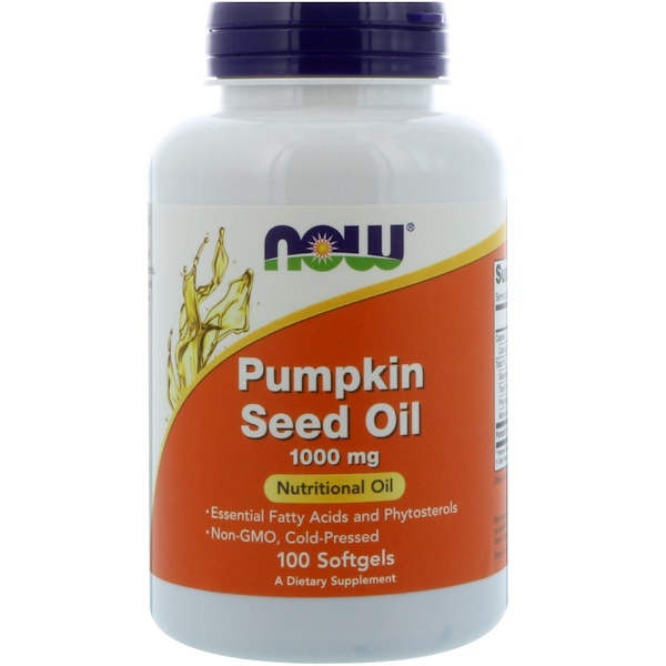 Now Foods, Pumpkin Seed Oil, 1000 mg, 100 Softgels
