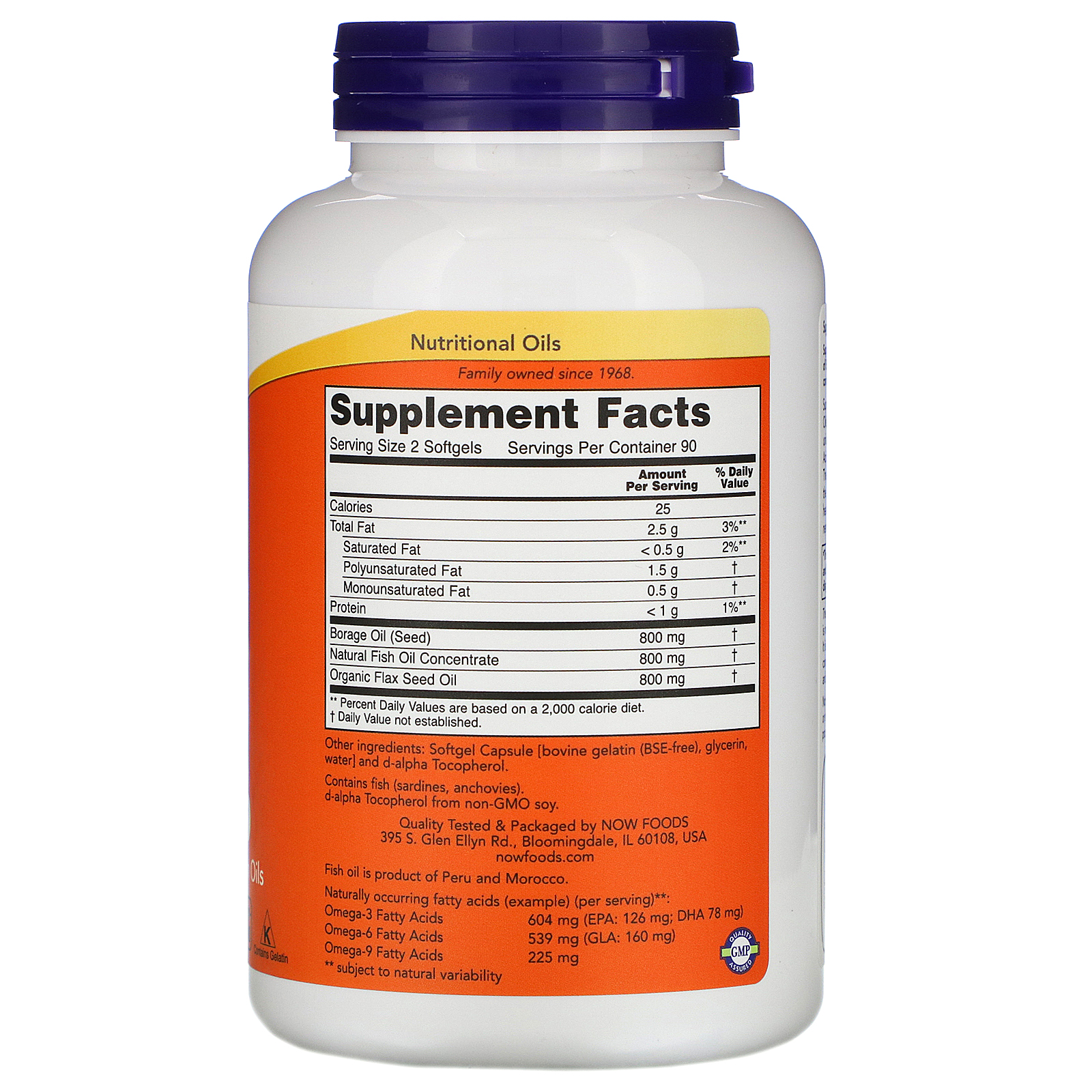 Now Foods Super Omega 3 6 9 1 200 Mg 180 Softgels Iherb