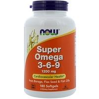 Super Omega 3-6-9, 1200мг, 180мягких таблеток - фото