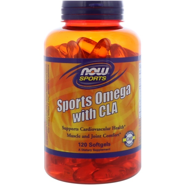 Now Foods, Sports Omega with CLA, 120 Softgels (Discontinued Item)