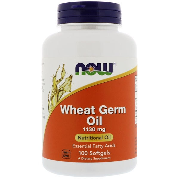 Wheat Germ Oil, 1,130 mg, 100 Softgels