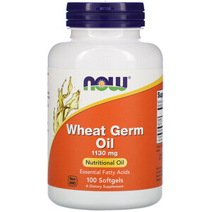 Now Foods, Wheat Germ Oil, 1,130 mg, 100 Softgels отзывы покупателей