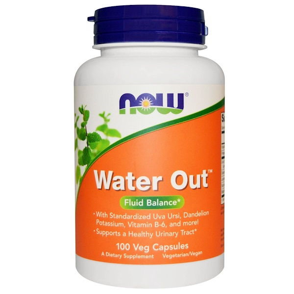 Now Foods, Water Out, balance de fluídos, 100 cápsulas vegetales