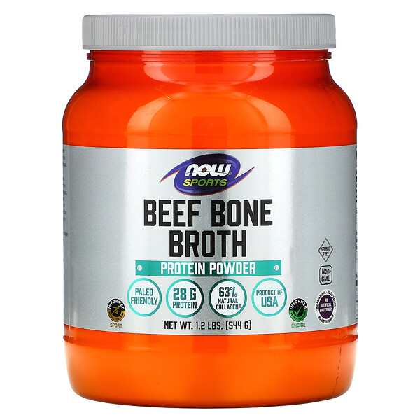 Sports, Beef Bone Broth, Protein Powder , 1.2 lbs (544 g)