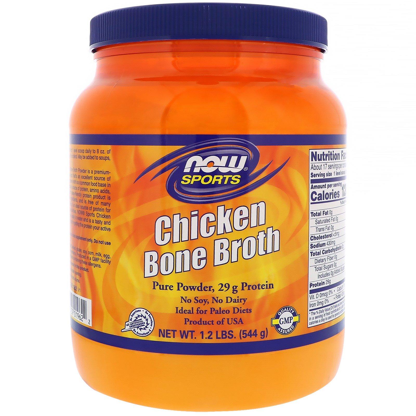 Now foods bouillon d 39 os de poulet 544 g 1 2 lb - Bouillon d os ...