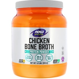 Now Foods, Bouillon d'os de poulet, 544 g (1,2 lb)