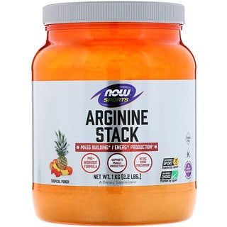 Now Foods, Sports, Arginine Stack, Tropical Punch , 2.2 lbs. (1 kg)