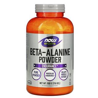 Now Foods, Sports, Beta-Alanine, Pure Powder, 17.6 oz (500 g)