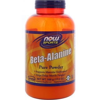 Now Foods, Deportes, beta-alanina, polvo puro, 17.6 oz (500 g)