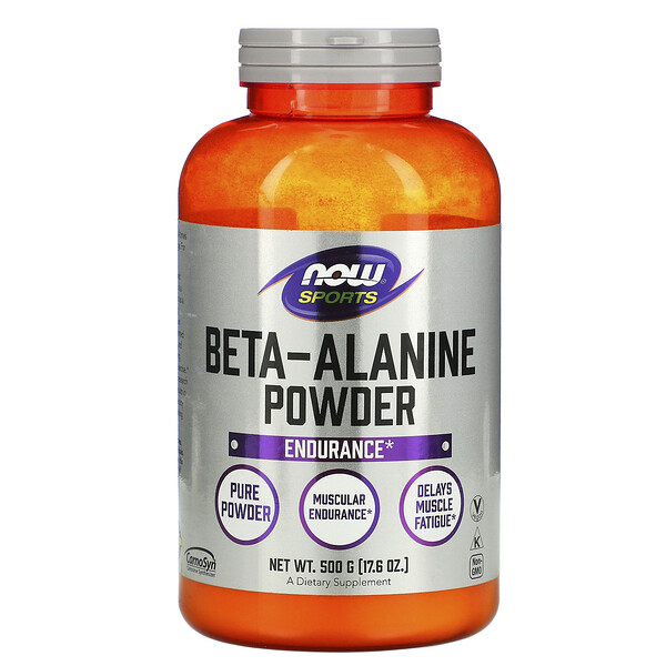Now Foods, Sports, Beta-Alanine, Pure Powder, 17.6 oz (500 g)