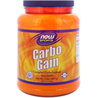 Now Foods, رياضة، Carbo Gain، رطلين (907 غ)
