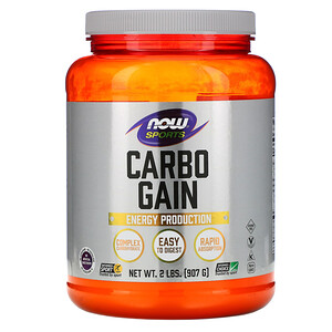 Now Foods, Sports, Carbo Gain, 2 lbs (907 g) отзывы покупателей