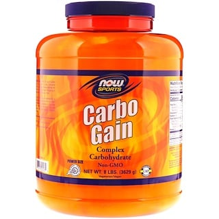 Now Foods, Sports, Carbo Gain, 8 lbs (3629 g)