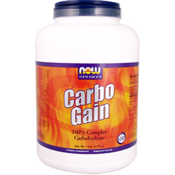 Now Foods, Sports, Carbo Gain, 8 lbs (3629 g) (Discontinued Item)