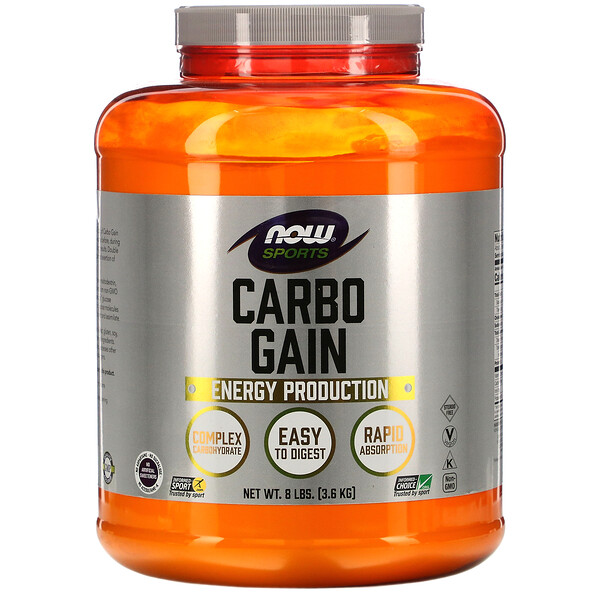 Now Foods, Sports, Carbo Gain, 8 lbs (3.6 kg)