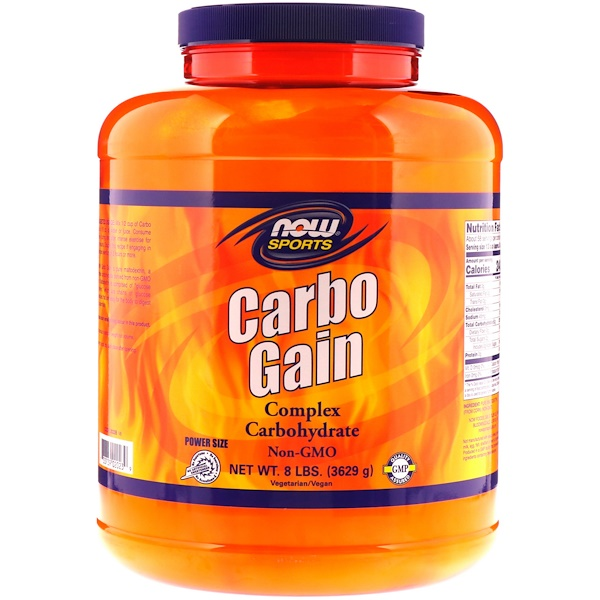 Now Foods, الرياضة، Carbo Gain، مقدار 8 رطل (3629 جم)