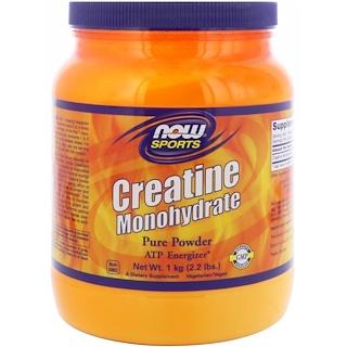 Now Foods, Sports, Monohidrato de creatina, polvo puro, 2,2 libras (1 kg)