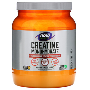 Now Foods, Sports, Creatine Monohydrate, 2.2 lbs (1 kg) отзывы покупателей