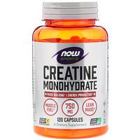 Sports, Моногидрат креатина, 750 мг, 120 капсул - фото