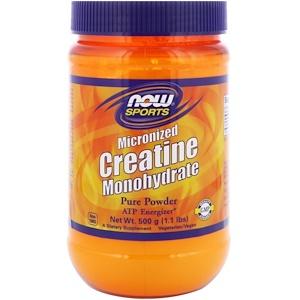 Now Foods, «Спорт», моногидрат креатина, тонкоизмельченный, 1,1 фунта (500 г)