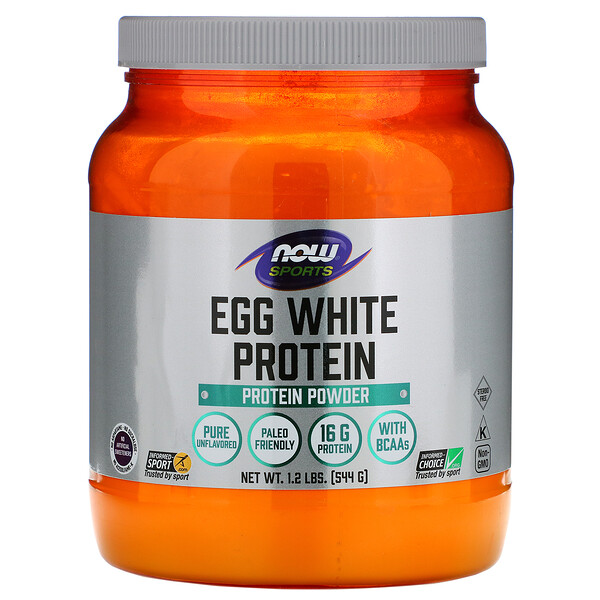 Now Foods, Sports, Egg White Protein, Protein Powder, 1.2 lbs (544 g)